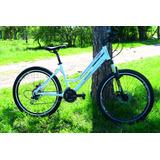 Bicicleta Dama Bruzzoni R26 21v Frenos A Discos Suspension