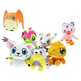 Boneco Miniatura Pelúcia Digimon Agumon Tentomon Patamon