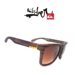 6b2fd6cadf8e5 Oculos Quiksilver De Madeira Sol - Óculos De Sol no Mercado Livre Brasil
