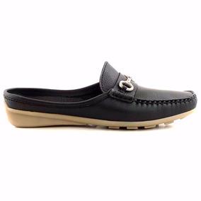 Zueco Zapato Mujer Cuero Briganti Base De Goma - Mcsu48021