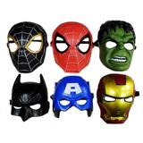 2 Mascaras Halloween Iron Avengers Superheroes Disfraz Niño