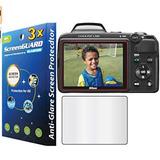 3 Piezas Pretector De Pantalla Nikon L320 L330 L810 (f)