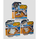 Star Wars Lote De 3 Naves Galacticas De Combate Hot Wheels