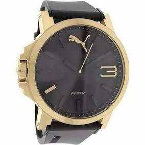 Relógio Puma Masculino Dourado Aço Ultrasize Frete Gratis