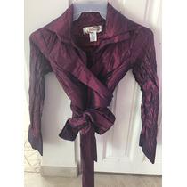 Blusa/saco Color Morado Brillante