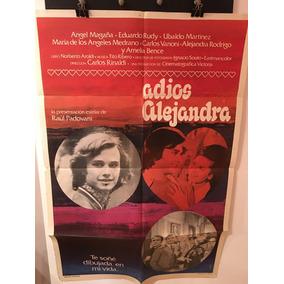 Afiche De Cine Original - Adios Alejandra