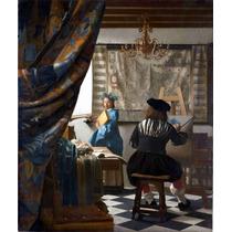 Lienzo Tela El Arte De Pintar Jan Vermeer 1666 Arte 50 X 65