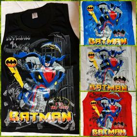 Remera Musculosa Batman Excelente Calidad Algodon Estampado