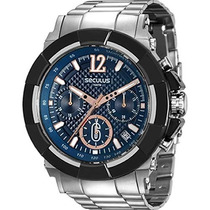 Relógio Seculus Masculino Chonograph 20386gpsvca2