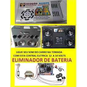 Fonte Usina Automotiva C/voltimetro 12v- 30a Bateria P/ Som