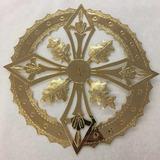 Aureola O Resplandor Para Imagen Religiosa 30cm Baño De Oro