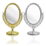 Espelho De Mesa Penteadeira Maquiagem Oval Duas Faces Zoom