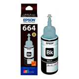 Botella De Tinta Epson T664 Negro 70ml