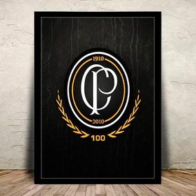 Poster Quadro C/ Vidro Corinthians Timão - 45x35cm #1