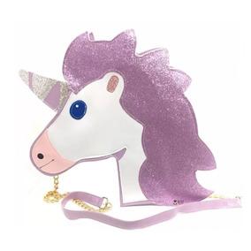 Bolsa Unicórnio Grande Lilás Feminina Cavalo Festa