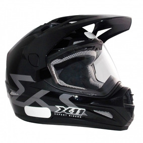 Capacete Moto X11 Crossover Cross C/ Viseira Big Trail Preto