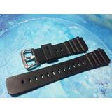 Casio Correa Reloj Repuesto 20mm Resina Negra