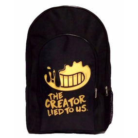Mochila De Bendy And The Ink Machine Reforzada 17 Pulgadas