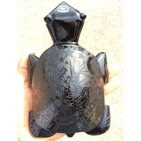 Tortuga Obsidiana Grabada Con Figuras Prehispanicas Arte