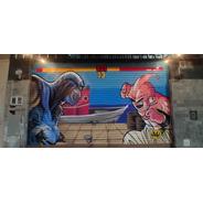 Graffiti Mural A Mano No Vinilo No Plotter