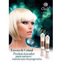 Escova Cristal Redução De Volumes Onix Liss 500ml + Brinde