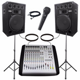 Combo Consola 12 Canales 800w + 2 Bafles 15 400w +mic Shure