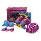 Baby Kits - Set De Patines De 4 Ruedas + Protección - Rayas