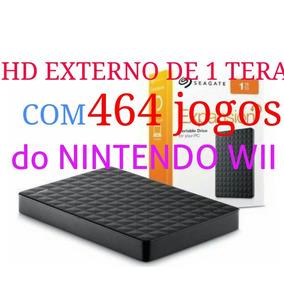 Hd Externo De 1 Tera Com 464 Jogos Para Nintendo Wii!!!!