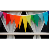 Banderines De Tela! Multicolor Arco Iris! Para Decorar!!