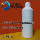 Solucion Liquido Limpia Cabezales Color Make 1 Litro