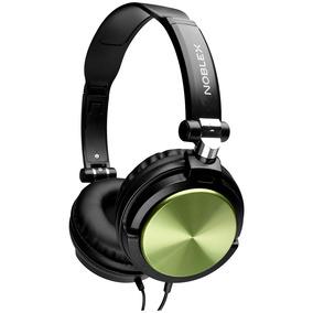 Auriculares Noblex Hp77w Negro-verde