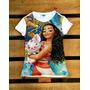 Princesa Moana Desenho Blusinha T-shirt Camiseta Infantil