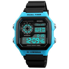 Reloj Digital Led De Pulsera Impermeable 50m. Skmei.