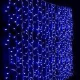Cortina Luces Led Color Azul 6 Mts X 3 Mts 600 Leds
