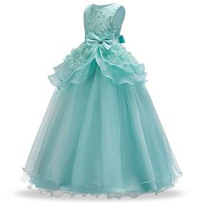 Vestido Infantil/juvenil Longo Festa Casamento Formatura Enc