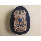 Distintivo Agente De Segurança Prata Ou Dour - Frete Grátis