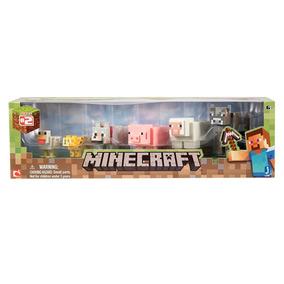 Minecraft Overworld Animal Mobs Set 6 Figuras Articuladas