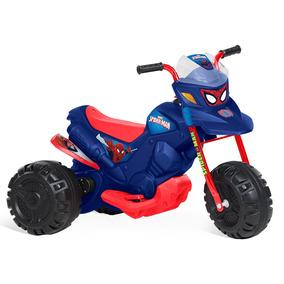 Mini Moto Elétrica 6v, Homem Aranha Azul - Bandeirante