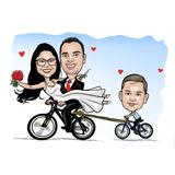 Caricatura Digital Bicicleta Love Caneca De Shopp Time Etc
