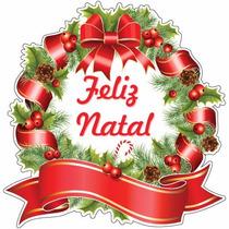 Adesivo De Vitrine Guirlanda Natal Para Campanhas Em Lojas