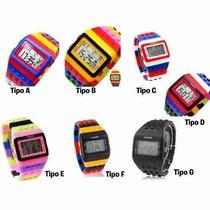 Lote 10 Relojes Lego Moda Hombre Mujer Color Alearotio