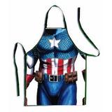 Delantal Grueso Capitan America Cocina Super Héroes Marvel *