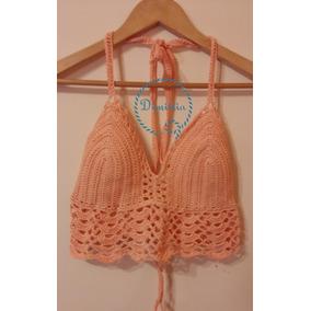 Crop Top Tejido A Crochet Todos Los Colores Liquidación!!