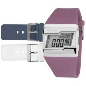 Relógio Mormaii Feminino Kit Troca Pulseiras Fzu/8c