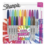 Sharpie Color Burst Marcadores Permanentes Punta Fina X24pcs
