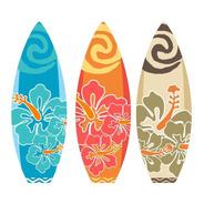 3 Prancha Moana Hawai Surfe Tropical Festa Totem Display Mdf