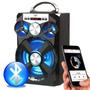 Caixa Som Bluetooth Mp3 Rádio Fm Cartão Usb Aux 15w Rms E13