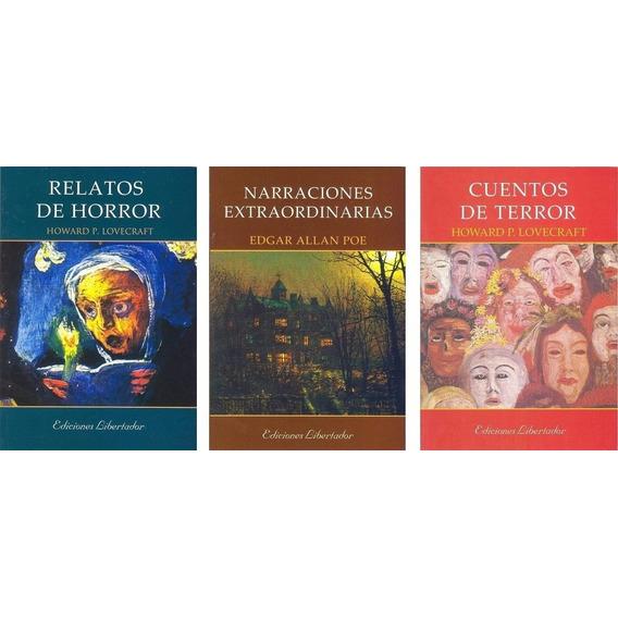 Lovecraft Edgar Allan Poe Lote X 3 Libros Terror Horror