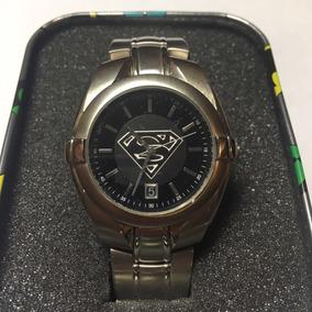 Superman Reloj Fossil Con Fechador Edición Warner Bros Dc
