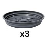 Kit 3 Pratos Para Vaso Redondo 30cm X 5cm Nutriplan